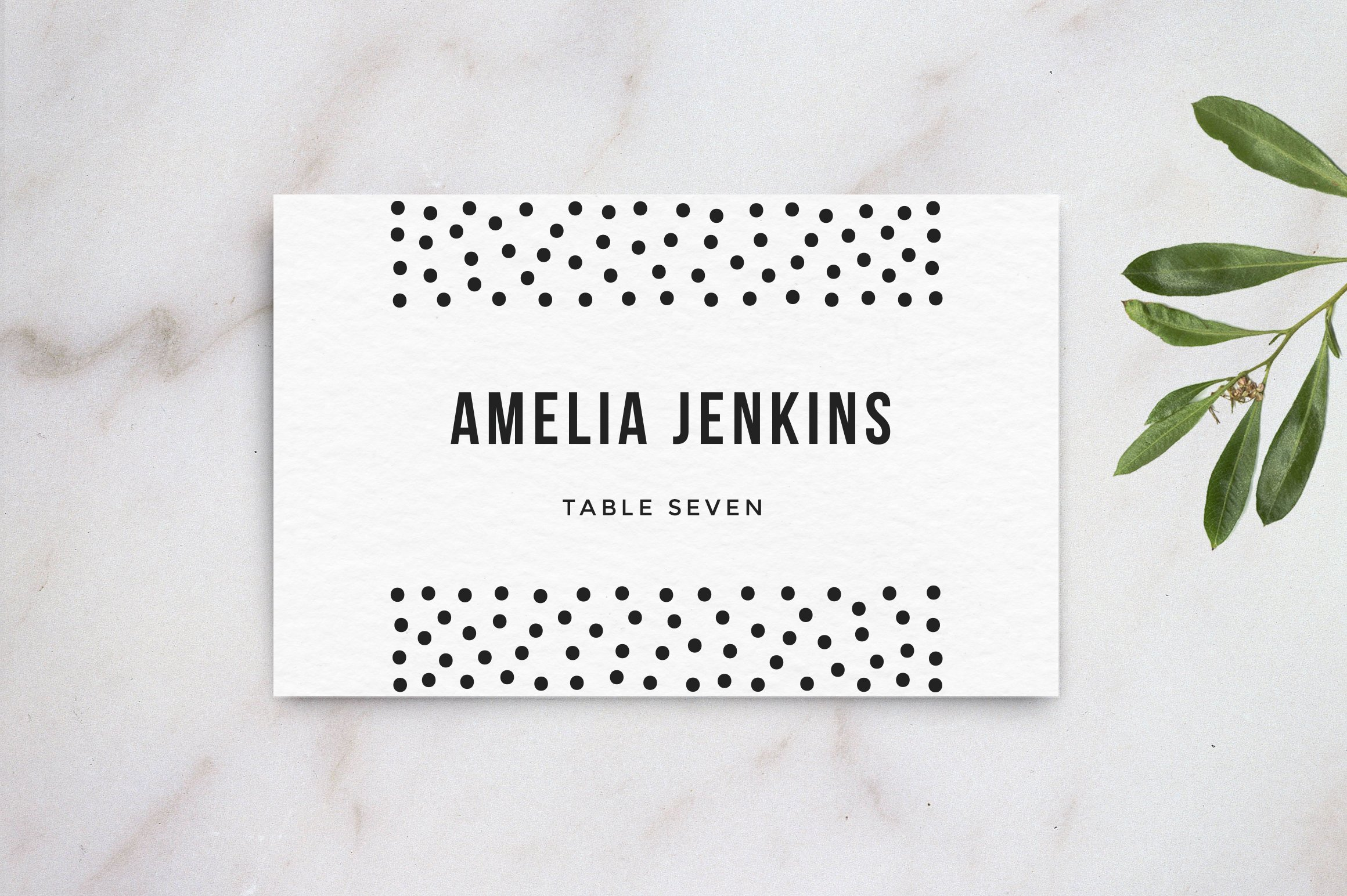 Wedding Table Name Card Template Card Templates Creative Market - Card template free: avery place card template