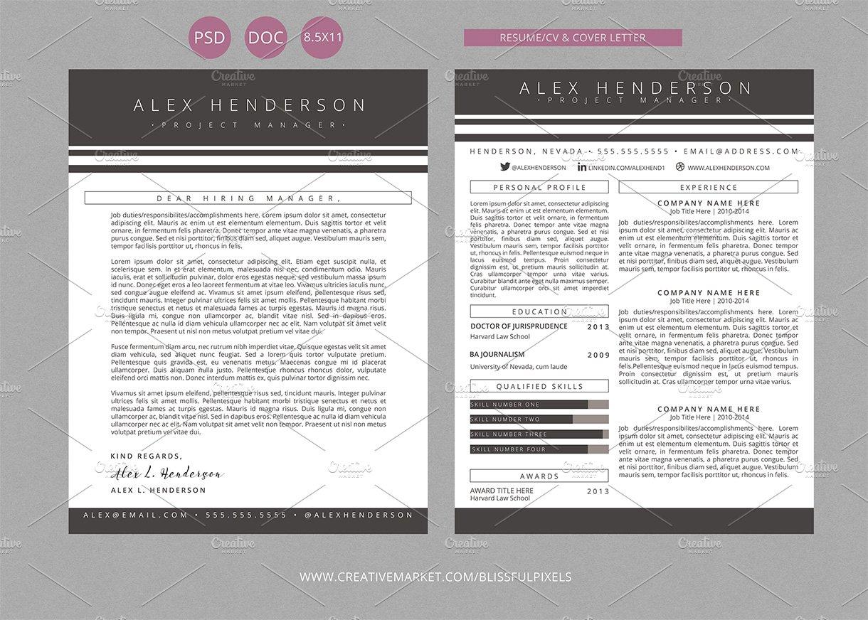 Resume CV & Cover Letter Template