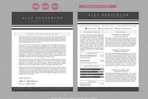 Resume CV & Cover Letter Template