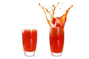 glass of tomato juice