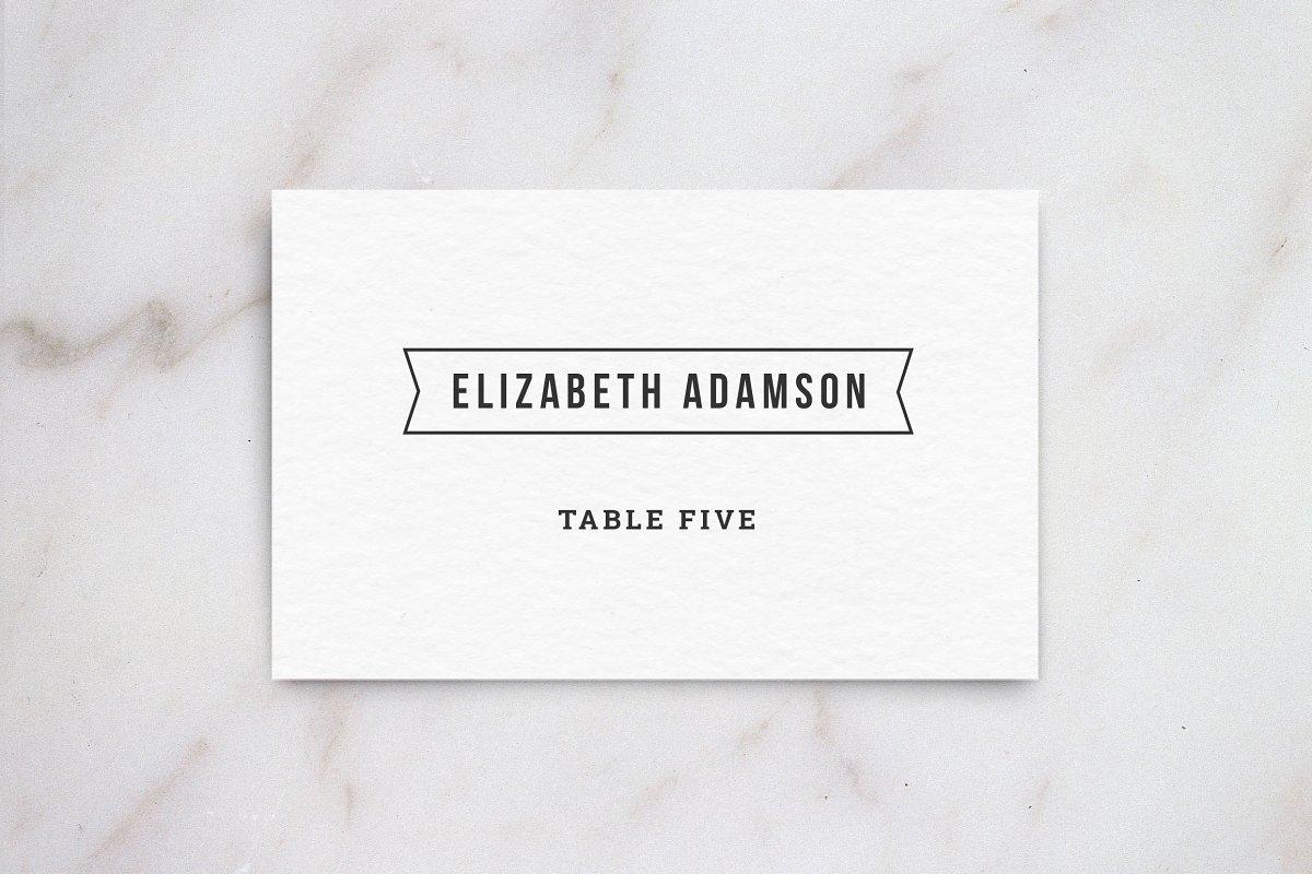 Wedding Table Place Card Template Card Templates Creative Market