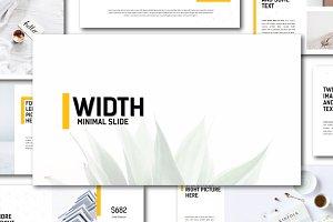 Width Minimal Keynote Template