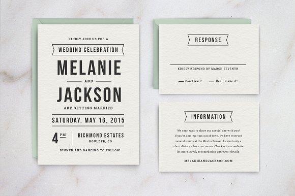 Wedding Invitation Template Suite Invitation Templates on – Invitation Information Template