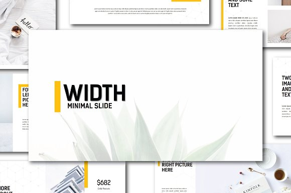 width minimal powerpoint template presentation templates