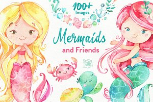 Mermaids & Friends. Underwater world