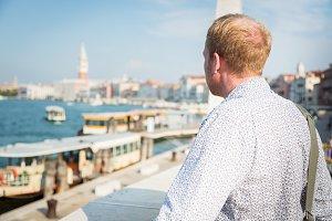 Tourist To Venice Enjoying The View
