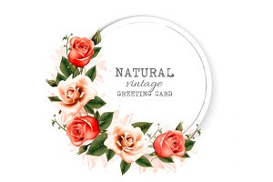 Natural vintage greeting card.