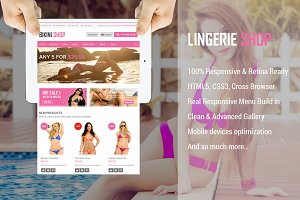 Lingerie Store Magento Theme