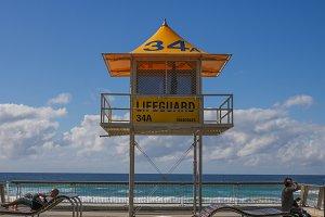 Lifeguard and ocean