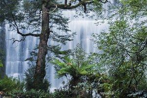 Russell Falls Waterfall in Tasmania