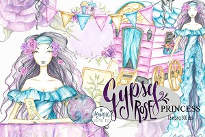 Gypsy Clipart Watercolor