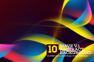 10 Wave Abstract Background V.1