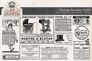 Vintage Brushes Vol03