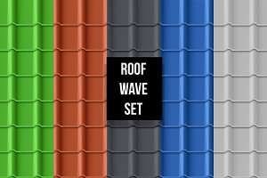 Tiled waves roof seamless pattern