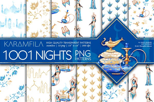 1001 Nights PNG Patterns