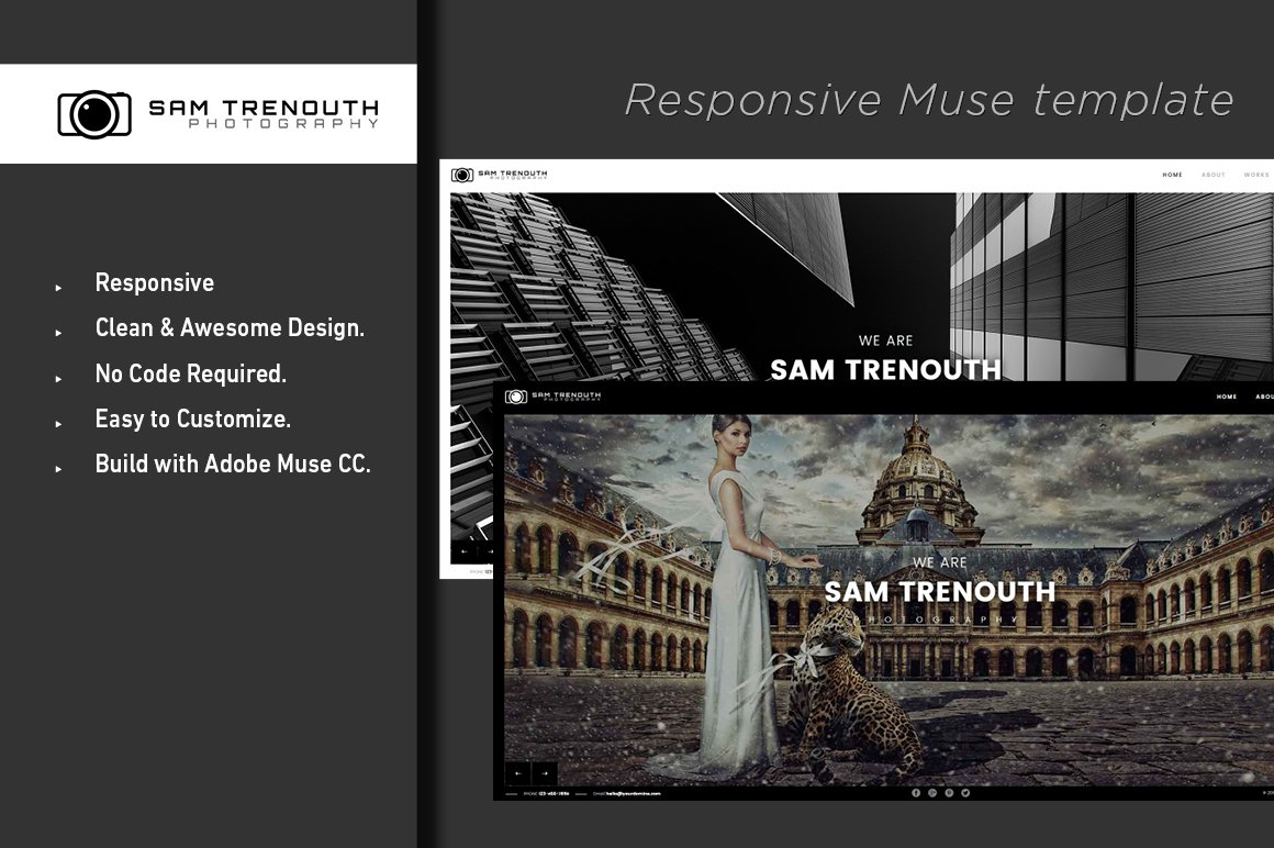 Photography Adobe Muse Template Website Templates Creative Market