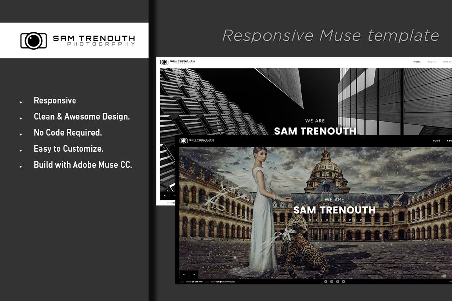 Photography Adobe MUSE Template