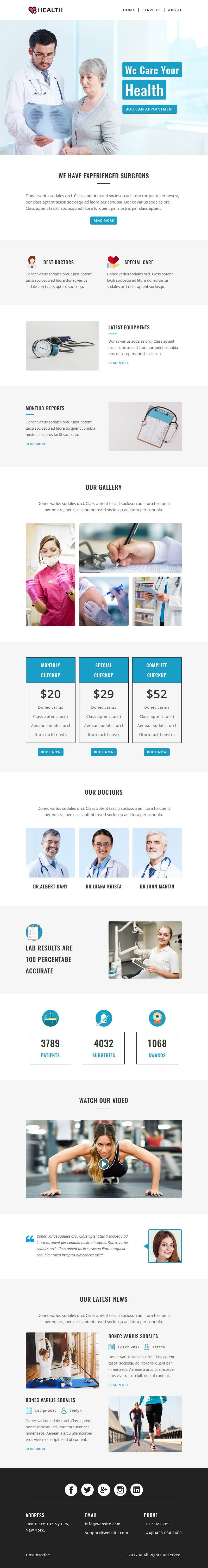 HEALTH- Responsive Email Template