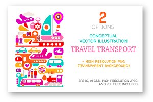 Travel Transport vector illustration