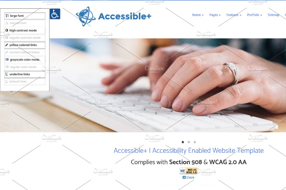Accessible Html Website Template Website Templates