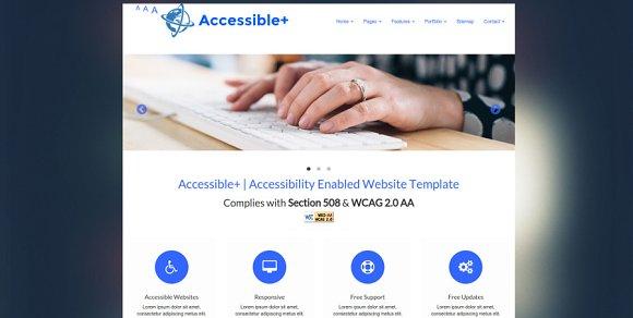 accessible html website template website templates creative market