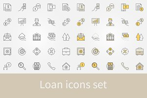 Loan icons set