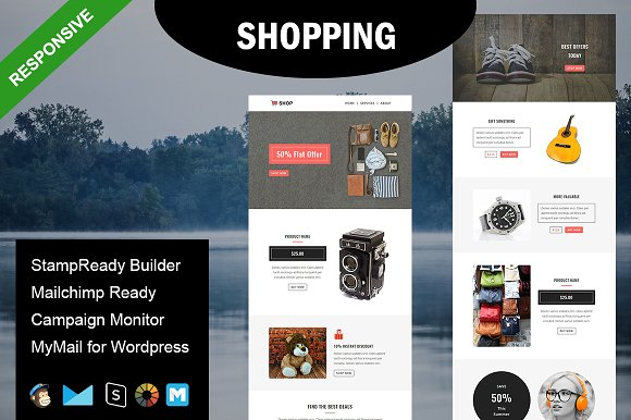 SHOPPING Responsive Email Template