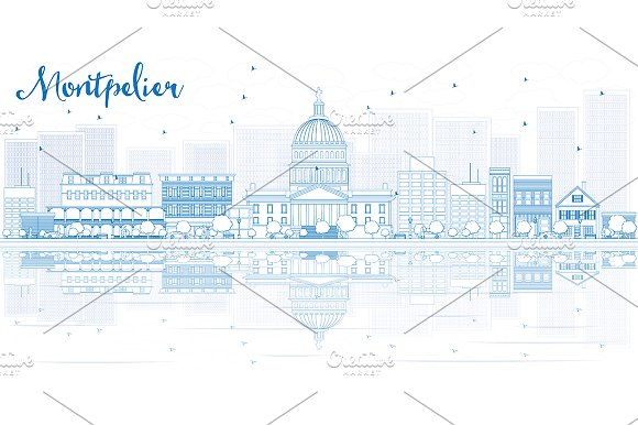 Outline Montpelier Skyline