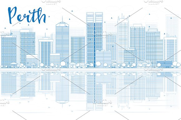 Outline Perth Skyline