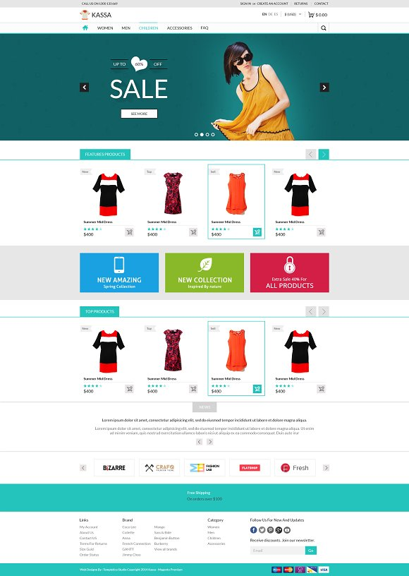 e commerce sites templates - kassa e commerce psd tempalte website templates
