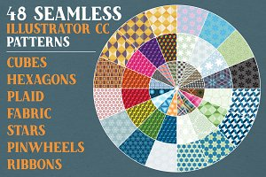 48 Seamless Illustrator CC Patterns