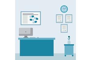 Medical examination or medical interior room