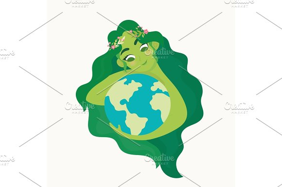 Woman Holding Ecology World Earth Day