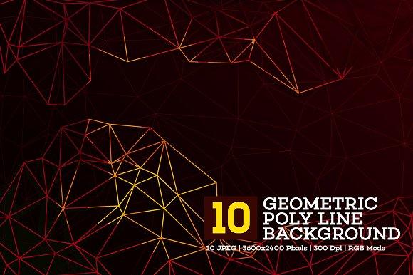10 Polygon Background V.8