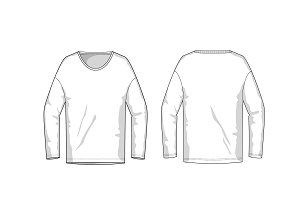 Longsleeve Fashion Flat Template