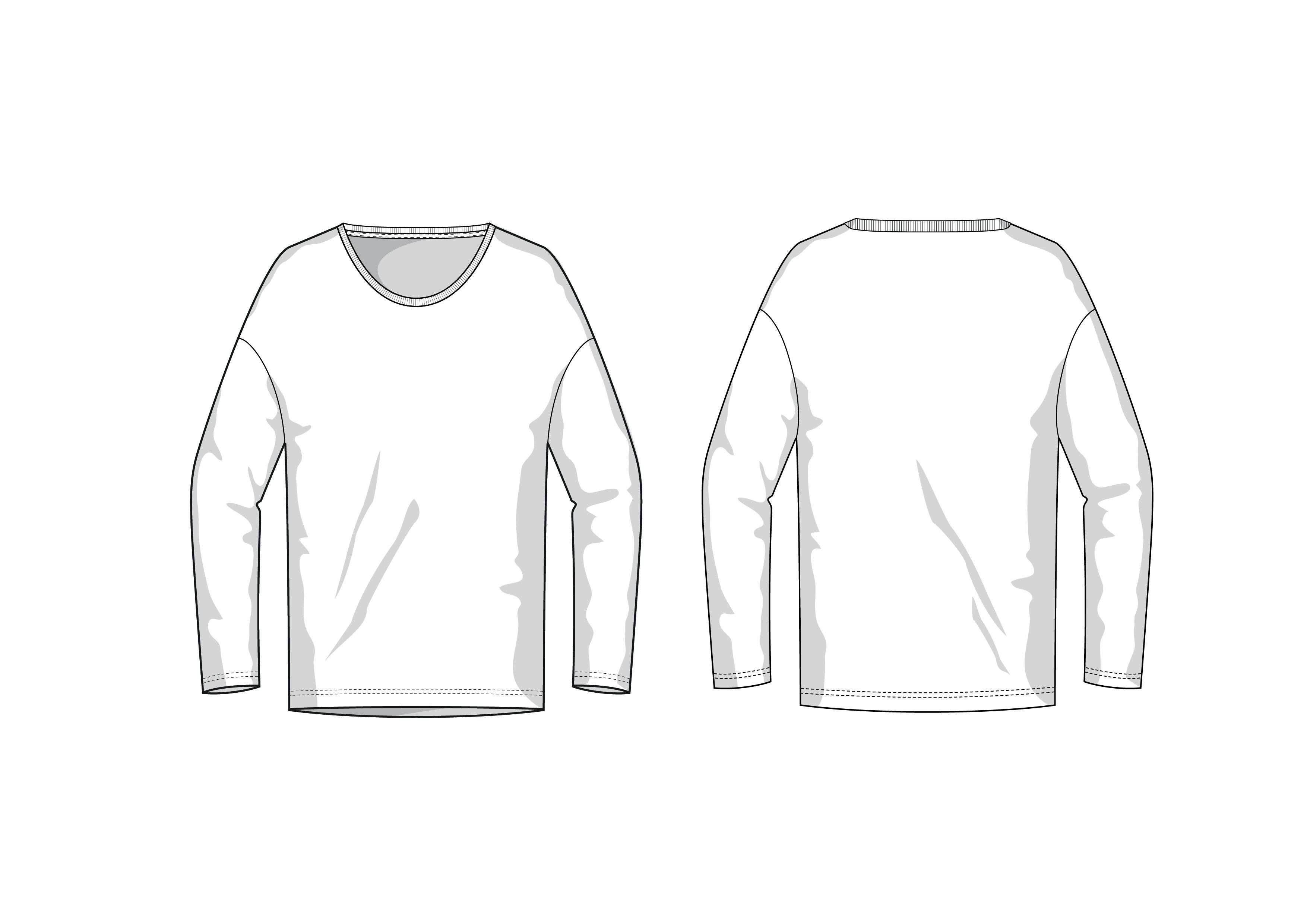 Longsleeve Fashion Flat Template ~ Templates ~ Creative Market