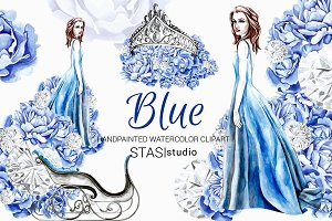 Winter Fashion Blue Clipart