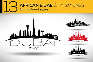 13 African & UAE City Skylines