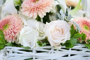 Flowers in the basket
