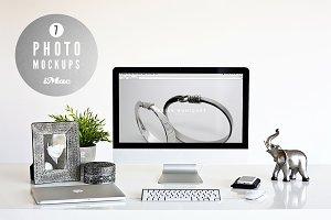 ★ silver ★ 7 iMac photo mockups