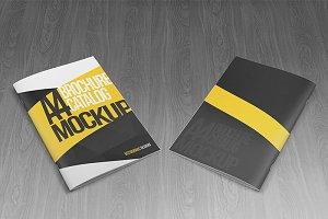 A4 Brochure Catalog Mockups