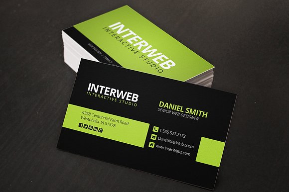 Web designer business card business card templates creative market reheart Gallery
