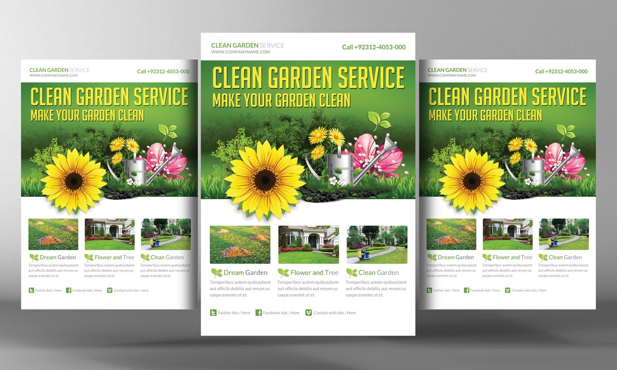 garden services flyer template flyer templates on creative market