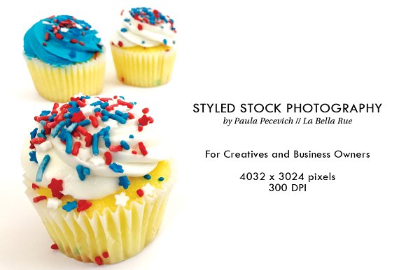Red White And Blue Vanilla Cupcakes