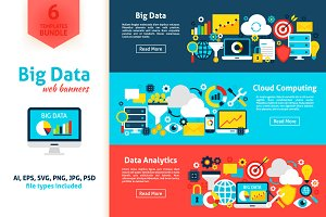 Big Data Flat Banners