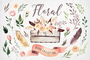 Bohemian watercolor collection II