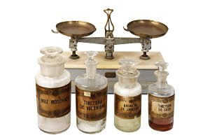 Vintage pharmaceutical instruments