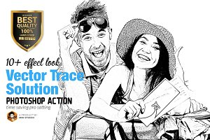 Vector Trace Solution Action