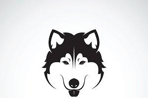 Vector of a dog siberian husky. Pet
