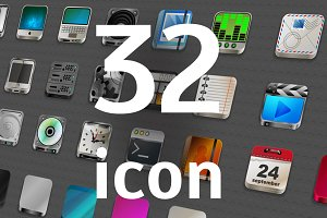 32 vector icons
